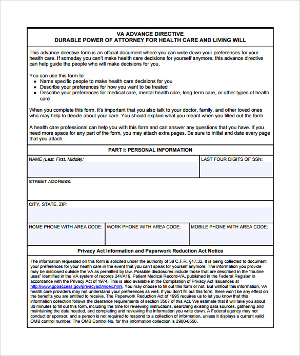 directive template - 28 images - advance directive form 9 free ...