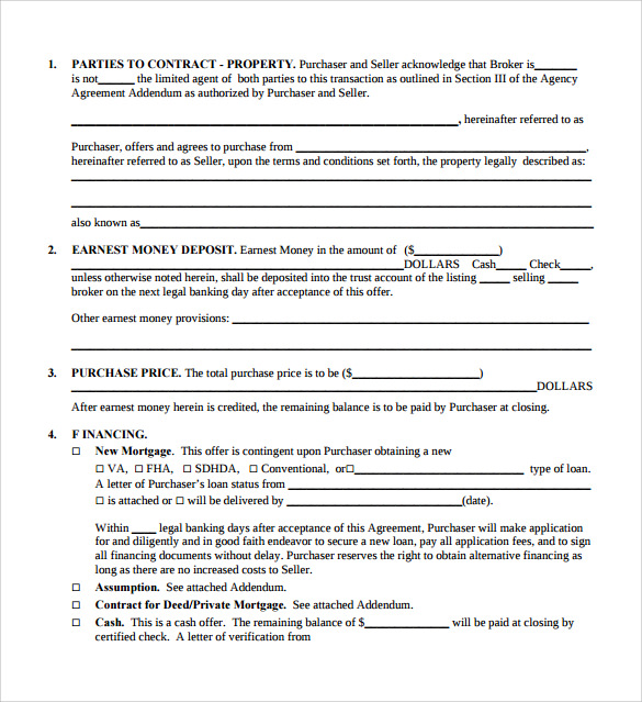Property Purchase Agreement - 8+ Documents Download In Pdf