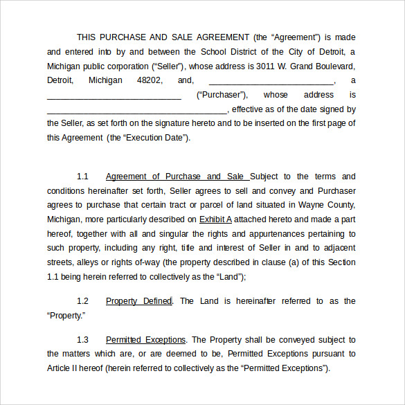 land purchase agreement of school