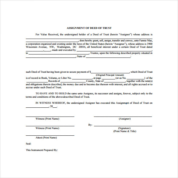 Deed Of Trust Forms - 8+ Documents Free Download In Pdf, Word