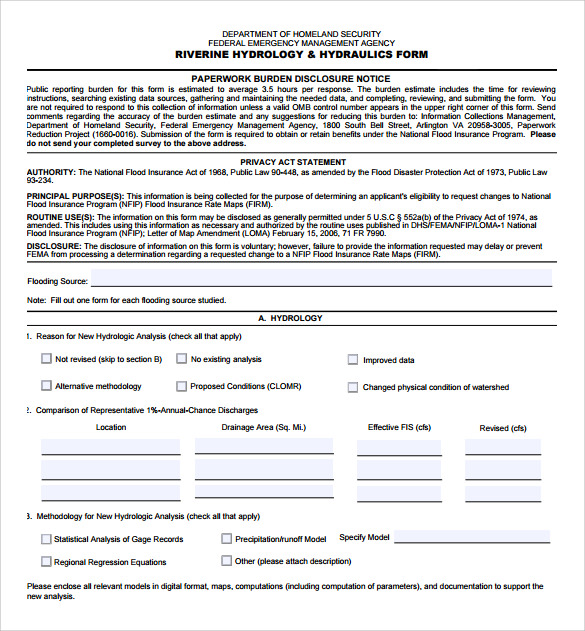 fema application form to download