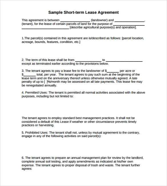 15 Land Lease Agreements Samples Examples Format Sample