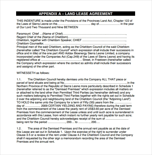 Sample Of Lease Agreement Sample Rental Agreement Letter Template