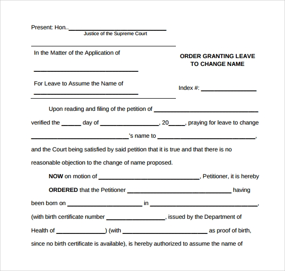 Sample Change Order Template   Free Documents In Pdf  Word