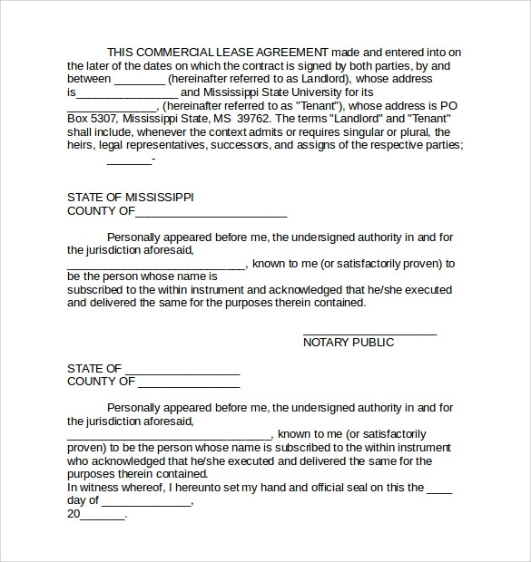 Commercial Lease Agreement - 8+ Free Samples , Examples & Format