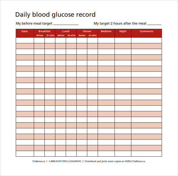 blood glucose chart for non diabetics