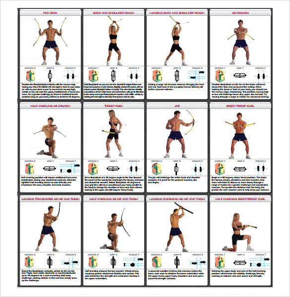 image regarding Printable Exercise Ball Workouts called Pattern Physical fitness Chart - 6+ Files within PDF
