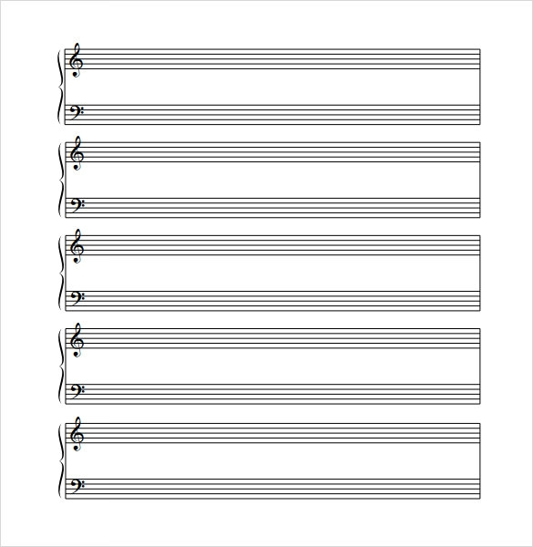 Music Staff Paper Template Bass Clef Sheet Music Tim Van De Vall