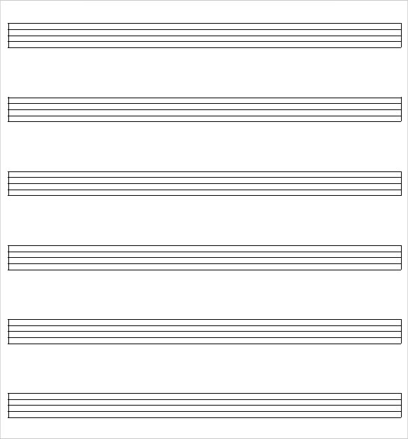 Sample Staff Paper 6 Example Format – Music Paper Template