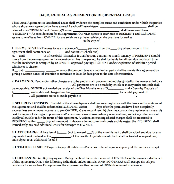 basic rental agreement1