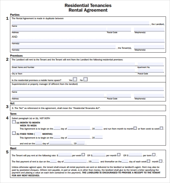 residential tenancies rental agreement1