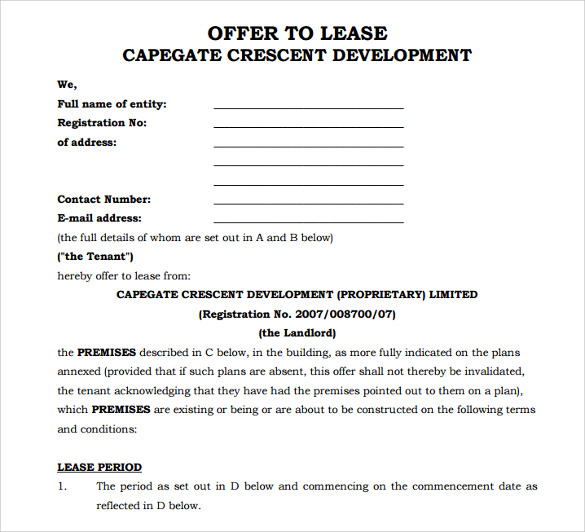 ... Standard Lease Agreement Templates 8 Samples Examples Format U2013 Sample  Office Lease Agreement Template ...