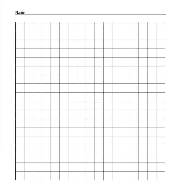 Grid Paper Templates 7 Samples Examples Format