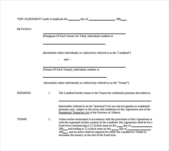 lease agreement to download