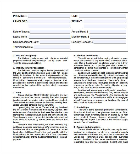 basic lease agreement1