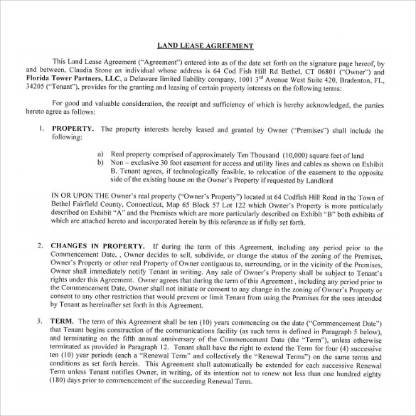 Land Rental And Lease Form Amendment To Rental Agreement Lease