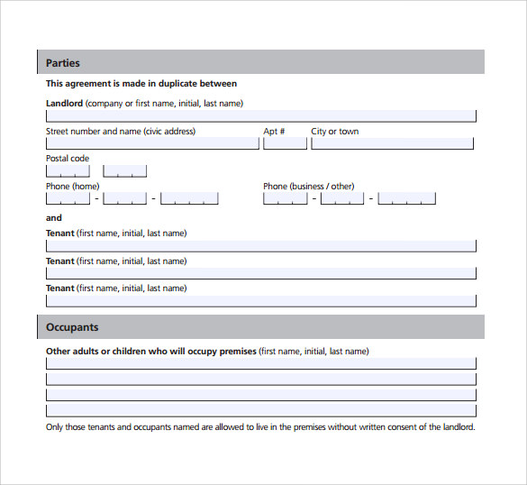 example of lease agreement1