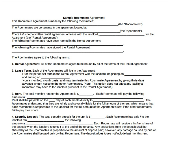 Monthly Room Rental Agreement