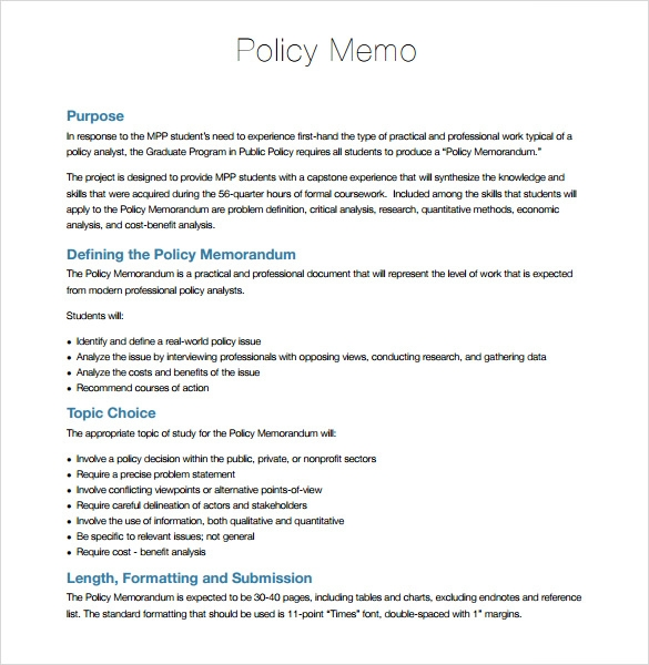 Environmental Policy Template
