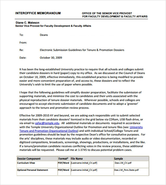 Sample Interoffice Memo   Documents In Pdf