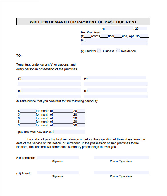 9  late rental notice templates
