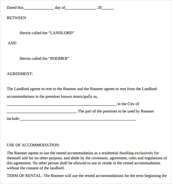 Landlord Lease Agreement 9 Samples Examples Format – Sample Landlord Lease Agreement