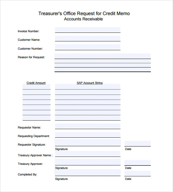 Sample Credit Memo - 7+ Documents In PDF, Word