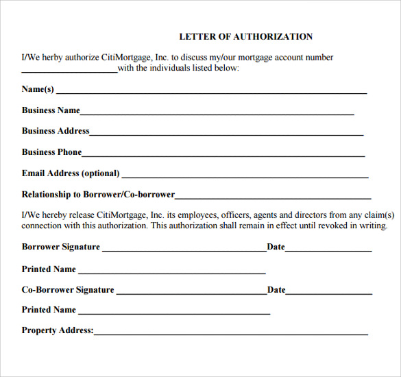 Sample Letter Of Authorization   Download Documents In Pdf  Word