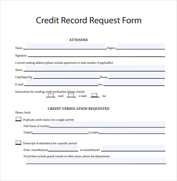 Credit Note Request Form Credit Note Form Template  28 Images  What Is A Credit Note .