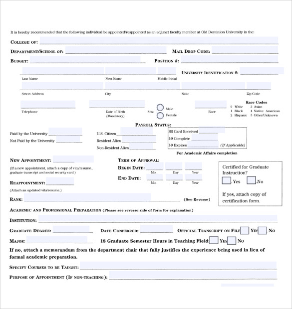 8 Sample Employment Authorization Forms Download for Free | Sample ...