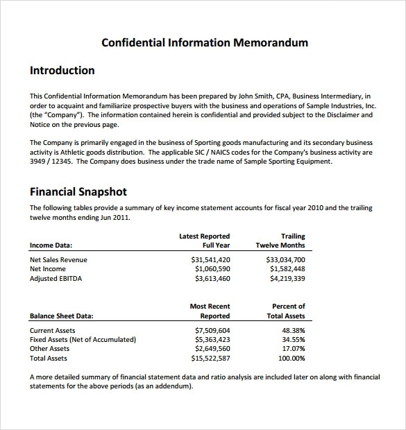 sample confidential memo