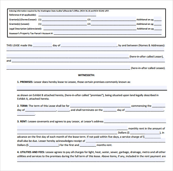 Business Lease Agreement Templates   Sample Examples  Format