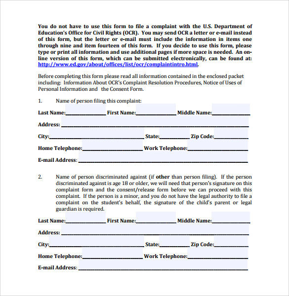 filing a discrimination complaint essay Equal employment opportunity complaint if gone to trial it must go through filing of civil rights and employment discrimination essay - discrimination in.