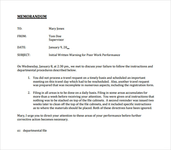 Memorandum Download FREE Business Letter Templates