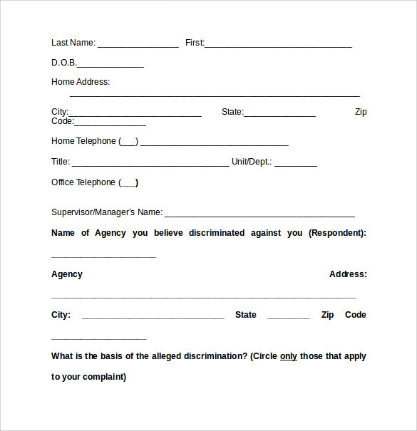 sample complaint for sexual discrimination jpg 853x1280