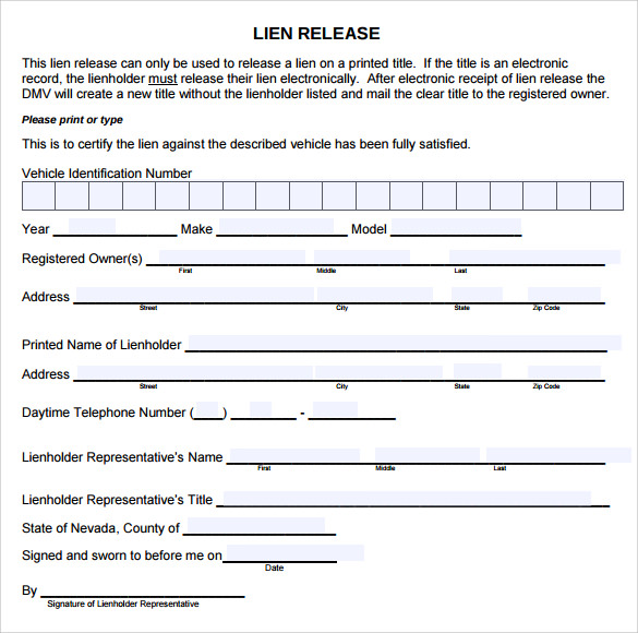 printable release form