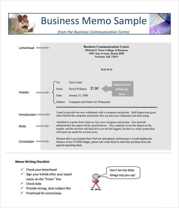 Sample Business Memo   Documents In Pdf Word