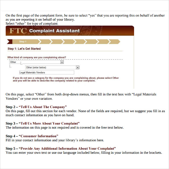 Doc575709 Sample Ftc Complaint Form FTC Identity Theft – Sample Ftc Complaint Form