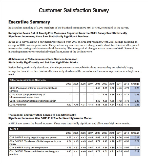 8 Client Satisfaction Survey Templates Free Sample Example Format – Sample Customer Satisfaction Survey