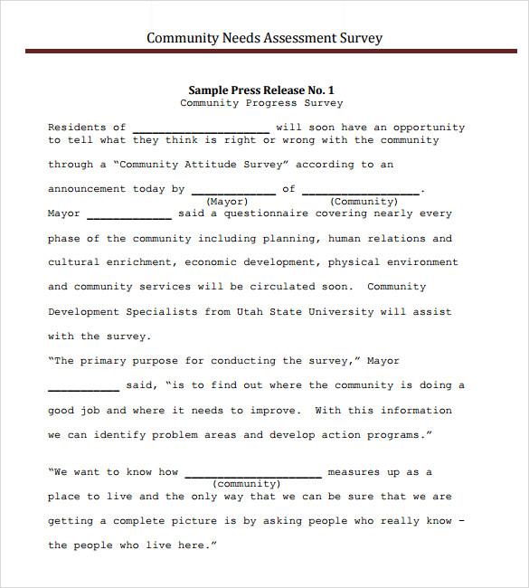 Sample needs assessment template needs assessment survey templates 8 samples examples format maxwellsz