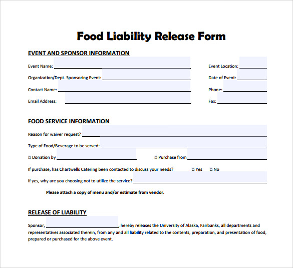 release from liability form template - 10 liability release form examples download for free
