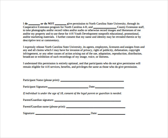 photo use release form