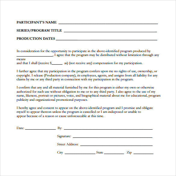 Interview / Podcast Release Form. U2026 Others Use A Word Press Plug In As  Their Interview Release Form. U2026 I Found A Talent Release Form Used At A  College.