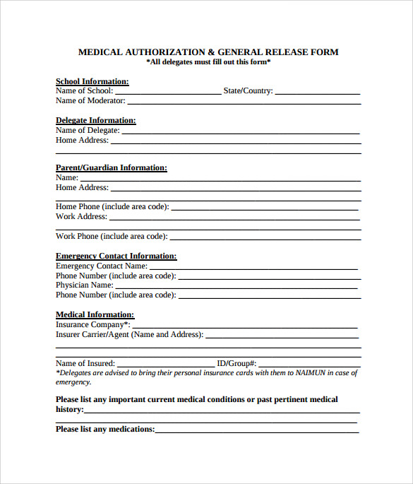 Sample General Release Form 10 Download Free Documents in PDF Word – Simple Release Form