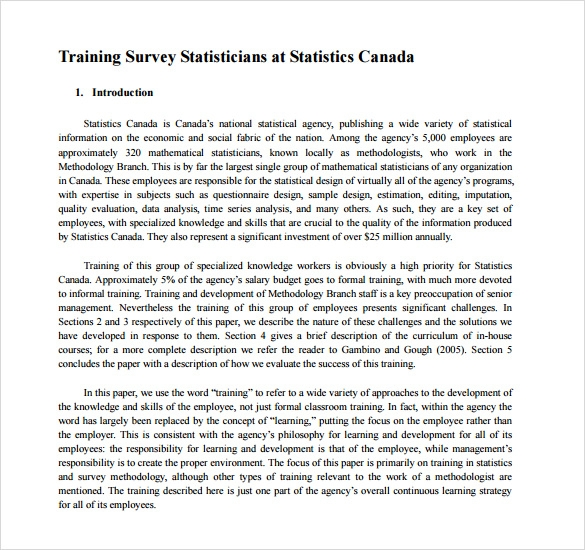 training survey template free