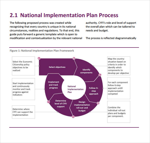 11 implementation plan templates pdf word sample for Implementation methodology template