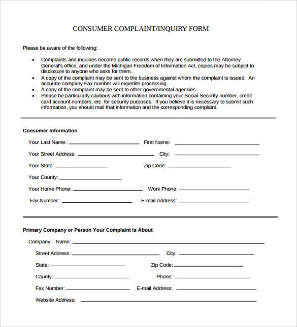 Exceptional Customer Complaint Form U2013 MasterControl Inc