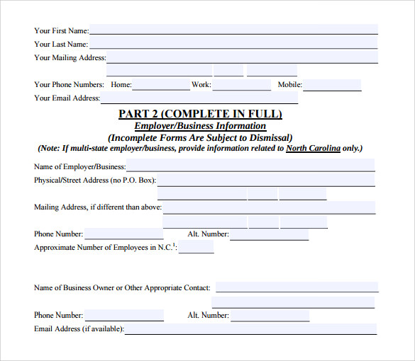 complaint forms template