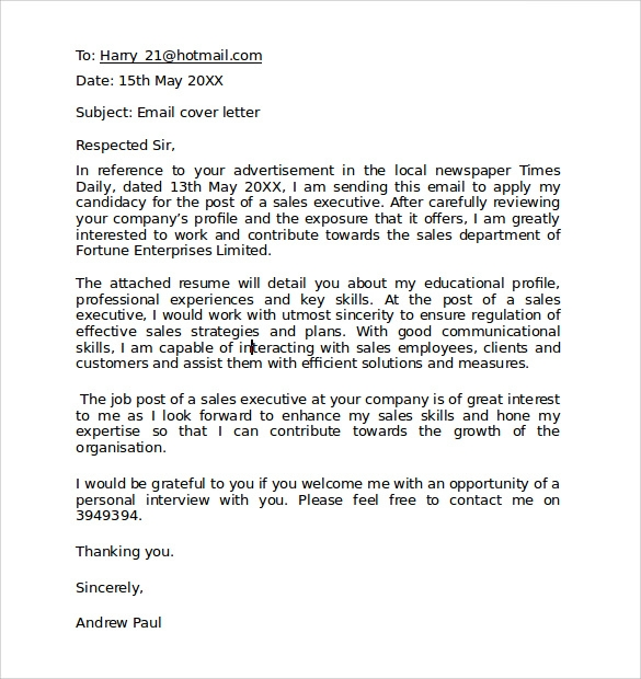 Business Letter Email Template - The Best Letter Sample