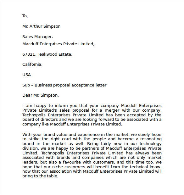 Sample Personal Business Letter Format   Documents In Pdf Word